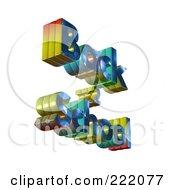 Royalty Free RF Clipart Illustration Of 3d Back 2 School Floating 1