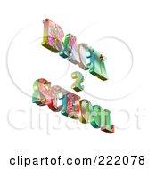 Royalty Free RF Clipart Illustration Of 3d Back 2 School Floating 4