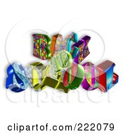 Royalty Free RF Clipart Illustration Of 3d Colorful Back 2 School Floating