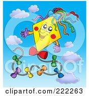 Happy Yellow Kite In The Sky