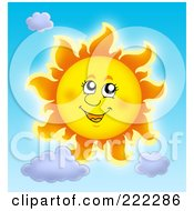 Royalty Free RF Clipart Illustration Of A Happy Summer Sun