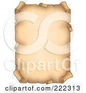 Royalty Free RF Clipart Illustration Of A Blank Aged Vertical Parchment Paper