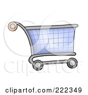 Royalty Free RF Clipart Illustration Of A Shopping Cart