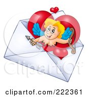 Cupid With A Valentine Envelope 3 by visekart