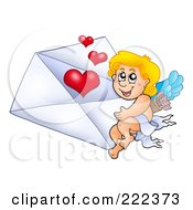 Cupid With A Valentine Envelope 1 by visekart