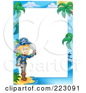 Royalty Free RF Clipart Illustration Of A Pirate Border Around White Space 16