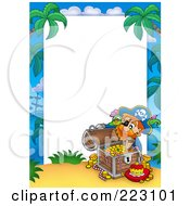 Royalty Free RF Clipart Illustration Of A Pirate Border Around White Space 4