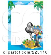 Royalty Free RF Clipart Illustration Of A Pirate Border Around White Space 6