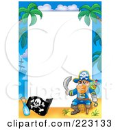Royalty Free RF Clipart Illustration Of A Pirate Border Around White Space 1