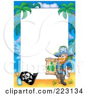 Royalty Free RF Clipart Illustration Of A Pirate Border Around White Space 2