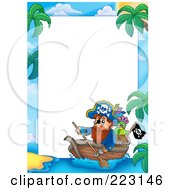 Royalty Free RF Clipart Illustration Of A Pirate Border Around White Space 12
