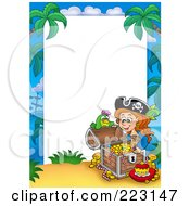 Royalty Free RF Clipart Illustration Of A Pirate Border Around White Space 9