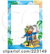 Royalty Free RF Clipart Illustration Of A Pirate Border Around White Space 11