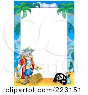 Royalty Free RF Clipart Illustration Of A Pirate Border Around White Space 3