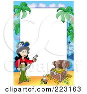 Royalty Free RF Clipart Illustration Of A Pirate Border Around White Space 7