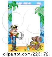 Royalty Free RF Clipart Illustration Of A Pirate Border Around White Space 8