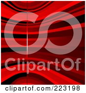 Royalty Free RF Clipart Illustration Of A Background Of Various Red Curves And A Vertical Line