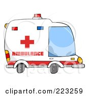 Royalty Free RF Clipart Illustration Of An Ambulance Vehicle