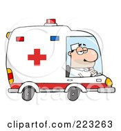 Royalty Free RF Clipart Illustration Of A Caucasian Male Ambulance Driver