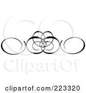 Ornamental Black And White Scroll Design 4