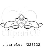 Ornamental Black And White Scroll Design 1