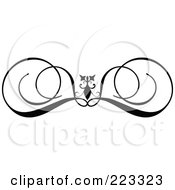 Ornamental Black And White Scroll Design 2