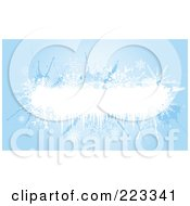 Royalty Free RF Clipart Illustration Of A Grungy Blue Background With White Space And Snowflakes