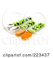 Royalty Free RF Clipart Illustration Of A 3d 2011 Happy New Year Greeting 2