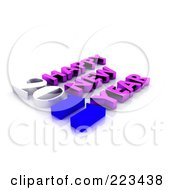 Royalty Free RF Clipart Illustration Of A 3d 2011 Happy New Year Greeting 3