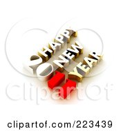 Royalty Free RF Clipart Illustration Of A 3d 2011 Happy New Year Greeting 1
