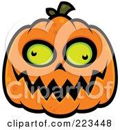 Spooky Green Eyed Jackolantern