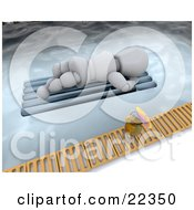 Clipart Illustration Of A Relaxing White Character Sun Bathing On A Lounger Float In A Pool A Cocktail On The Ledge