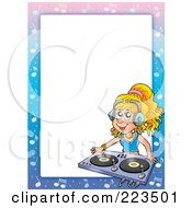 Royalty Free RF Clipart Illustration Of A DJ Border Frame Around White Space 1 by visekart