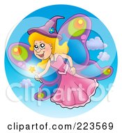 Royalty Free RF Clipart Illustration Of A Magic Fairy With Butterfly Wings by visekart