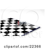 Clipart Illustration Of A Black King Chess Piece Knocked Over On Its Side In Defeat During A Game Of Chess Symbolizing Resignation