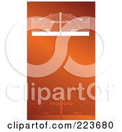Royalty Free RF Clipart Illustration Of A Business Card Design Of Iron Fencing And Gates On Orange With A White Border by Eugene