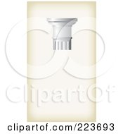 Royalty Free RF Clipart Illustration Of A Business Card Design Of A Pillar On Antique Beige by Eugene