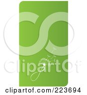 Royalty Free RF Clipart Illustration Of A Business Card Design Of A Dandelion Seedhead On Green by Eugene #COLLC223694-0054