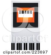 Royalty Free RF Clipart Illustration Of A Business Card Design Of A Keyboard On Orange Black And Gray by Eugene