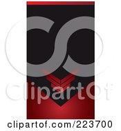 Royalty Free RF Clipart Illustration Of A Business Card Design Of Red Arrows On Black And Red by Eugene