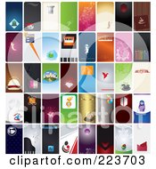 Royalty Free RF Clipart Illustration Of A Digital Collage Of 40 Business Card Designs