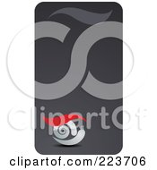 Royalty Free RF Clipart Illustration Of A Business Card Design Of A Snail On Gray by Eugene