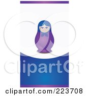Business Card Design Of A Nesting Doll On A Purple Blue And White Background