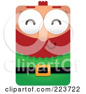 Royalty Free RF Clipart Illustration Of A Rectangular Christmas Elf