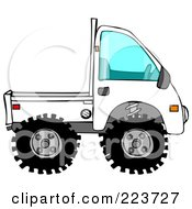 Royalty Free RF Clipart Illustration Of A White Keimini Truck