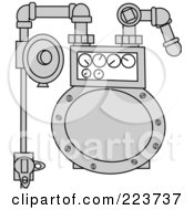 Royalty Free RF Clipart Illustration Of A Metal Gas Meter by djart