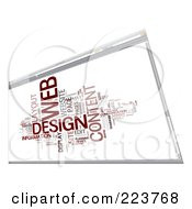 Royalty Free RF Clipart Illustration Of A Web Design Word Collage On An Internet Browser Screen by MacX