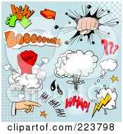 Royalty Free RF Clipart Illustration Of A Digital Collage Of Comic Clouds And Words 4 by Pushkin