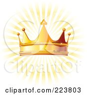 Golden Crown Over Yellow Rays