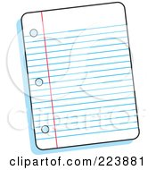 Royalty Free RF Clipart Illustration Of A Piece Of Ruled Paper